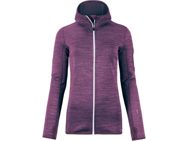 Ortovox W's Fleece Melange Hoody Aubergine Blend